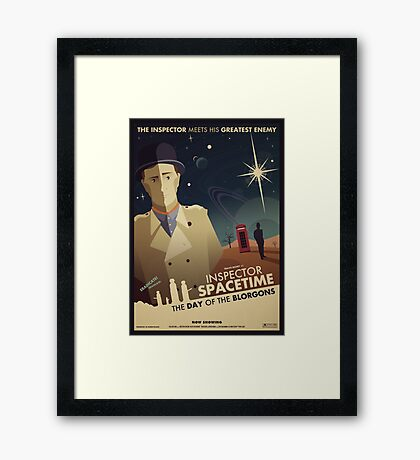 Inspector Spacetime: Day of the Blorgons Framed Print