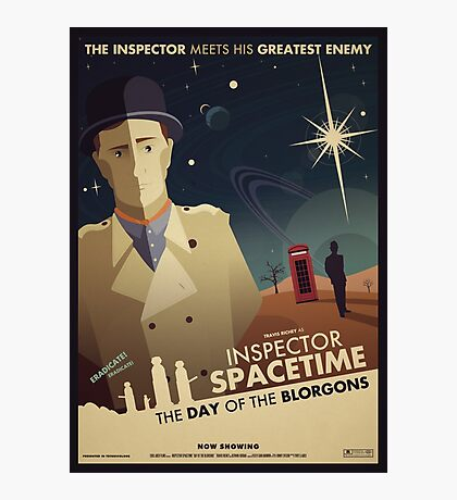 Inspector Spacetime: Day of the Blorgons Photographic Print