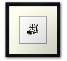 90's Kid Till I Die Framed Print