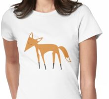 Foxy Pattern Womens Fitted T-Shirt