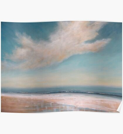Wet Sand Reflections Poster