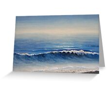 True Blue Evening Greeting Card