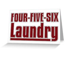 Four Five Six Laundry - Archer Greeting Card