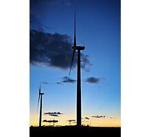 Sunset Turbines #9 Photographic Print