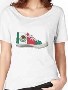 Hi Top Mexico Basketball Shoe Flag Women's Relaxed Fit T-Shirt