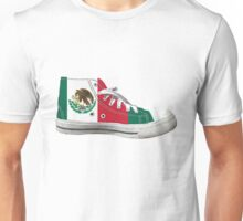 Hi Top Mexico Basketball Shoe Flag Unisex T-Shirt