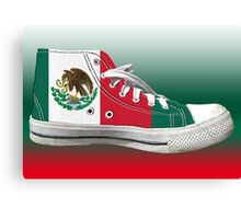 Hi Top Mexico Basketball Shoe Flag Canvas Print