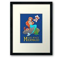 The Misty Mermaid Framed Print