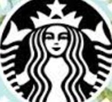 Starbucks is life Floral Logo Sticker