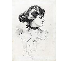 A Daughter of the South - Charles Dana Gibson - 1909 Photographic Print