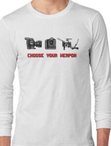 Choose Your Weapon - Canon 5D DSLR, Black Magic or Canon C300? Long Sleeve T-Shirt
