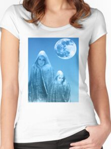 Full Moon Rising Women's Fitted Scoop T-Shirt
