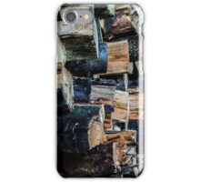 Pack de bois coupé iPhone Case/Skin