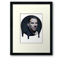 Benedict Cumberbatch- Dripping Portrait  Framed Print