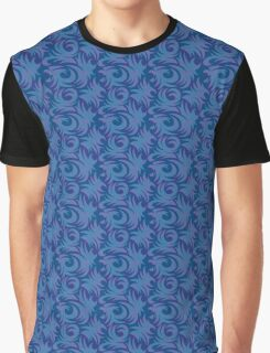 Blue Pattern   Graphic T-Shirt