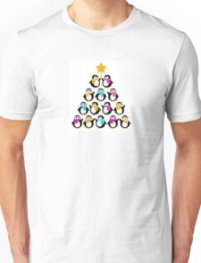Penguins standing in pyramid - cute Penguins making triangle Unisex T-Shirt