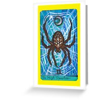 Arthropod Tarot - Card 2, The High Priestess Greeting Card