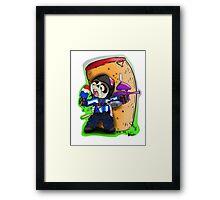 paintball chibi Framed Print