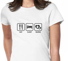Eat Sleep Nurse Womens Fitted T-Shirt