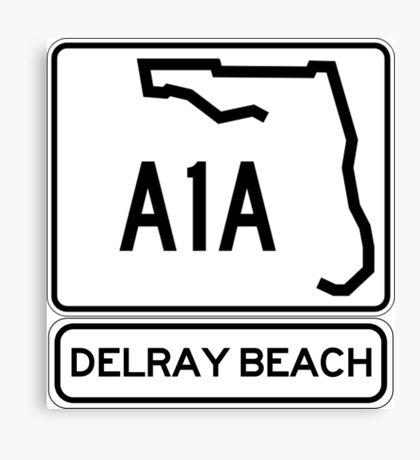 A1A - Delray Beach Canvas Print