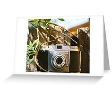 Kodak Pony 135 Vintage Camera Greeting Card
