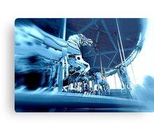 Blue Horsey Carousel Metal Print