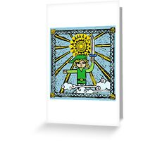 The Legend of Zelda - Link's History by AronGilli Greeting Card