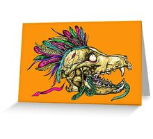 Wolf Skull Greeting Card