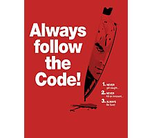Dexter 'Always Follow The Code!' Photographic Print