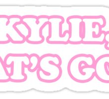 KYLIE WHATS GOOD? Sticker
