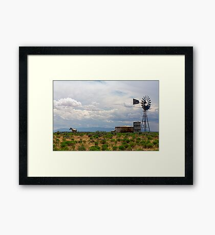 Just Another Rural Country Landscape  Framed Print