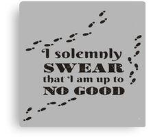 Harry Potter - I solemnly Swear Canvas Print