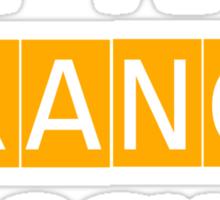 ORANGE CLOCKED Sticker
