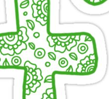 zentangle f: green  Sticker