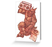 Boombox Werewolf Greeting Card