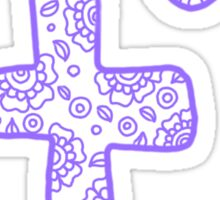 zentangle f: lavender  Sticker