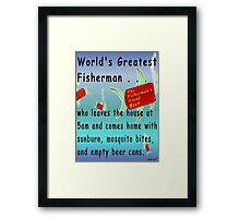 Greatest Fisherman Framed Print