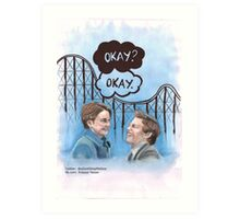 A roller coaster that only goes up Art Print