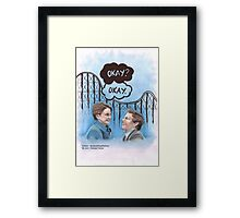 A roller coaster that only goes up Framed Print