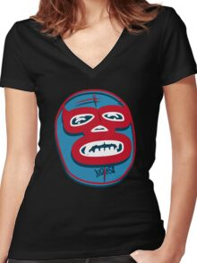 LUCHA58 dos Women's Fitted V-Neck T-Shirt