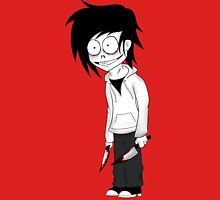 Jeff the Killer Cartoon Womens Fitted T-Shirt
