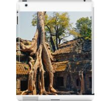 Giant tree root at Ta Promh Temple Cambodia iPad Case/Skin