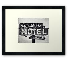 Coachlight Motel in Chicago Framed Print