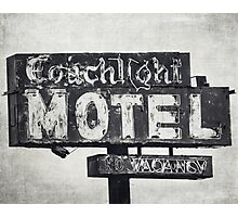 Coachlight Motel in Chicago Photographic Print