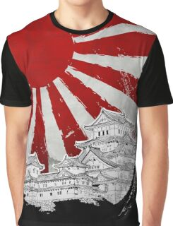 Japanese Palace and Sun Graphic T-Shirt