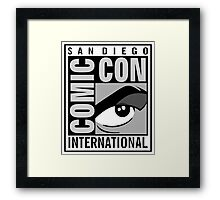 Comic Con Greyscale Framed Print