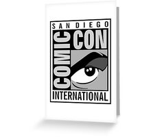 Comic Con Greyscale Greeting Card