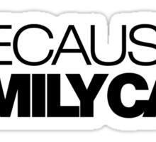 BECAUSE FAMILY CAR (1) Sticker
