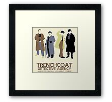 Trenchcoat Detective Agency Framed Print