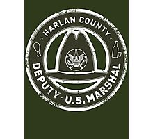 Harlan County Deputy US Marshal Grunge Photographic Print